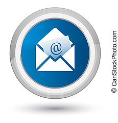 Newsletter email icon prime blue round button