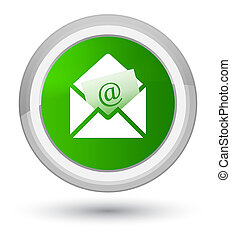 Newsletter email icon prime green round button
