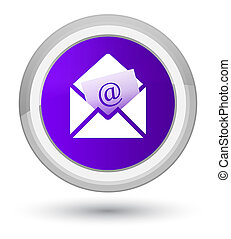 Newsletter email icon prime purple round button