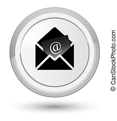 Newsletter email icon prime white round button