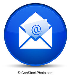 Newsletter email icon special blue round button
