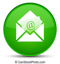 Newsletter email icon special green round button
