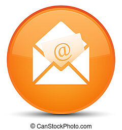 Newsletter email icon special orange round button