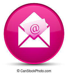 Newsletter email icon special pink round button