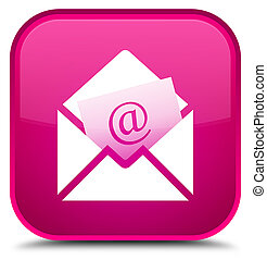 Newsletter email icon special pink square button