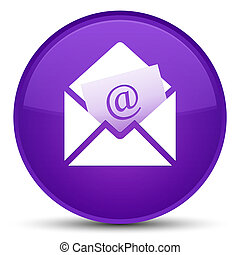 Newsletter email icon special purple round button