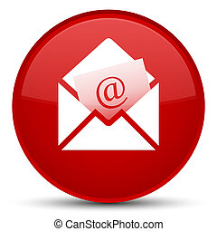 Newsletter email icon special red round button