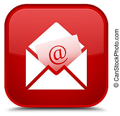 Newsletter email icon special red square button