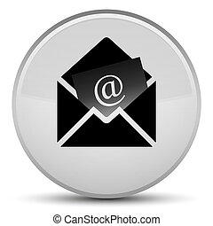 Newsletter email icon special white round button