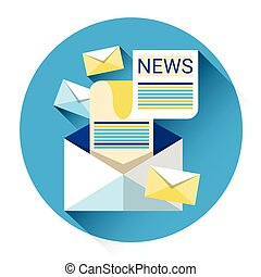 Newsletter Envelope Newspaper Icon