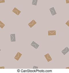 newsletter, enveloppe, seamless, background: