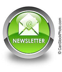 Newsletter glossy green round button