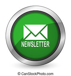 newsletter green icon