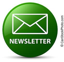 Newsletter green round button