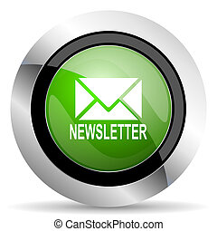 newsletter icon, green button