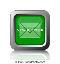 Newsletter icon. Internet button on black background.