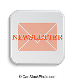 Newsletter icon. Internet button on white background.