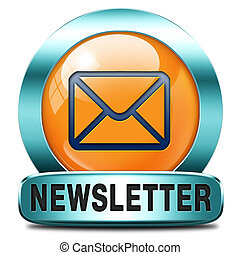 newsletter icon - Latest newsletter with hot breaking news. ...
