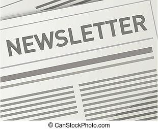 newsletter, konstruktion, illustration
