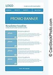 Newsletter light blue template