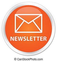 newsletter, naranja, botón