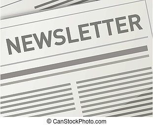 newsletter, ontwerp, illustratie