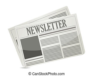 newsletter paper illustration design over a white background