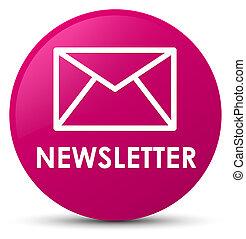 Newsletter pink round button