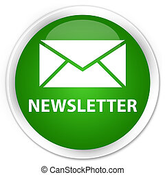 Newsletter premium green round button