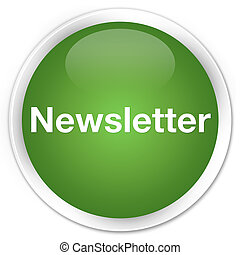 Newsletter premium soft green round button