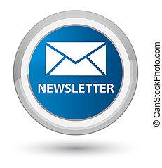 Newsletter prime blue round button