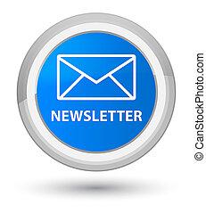 Newsletter prime cyan blue round button