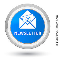 Newsletter prime cyan blue round button