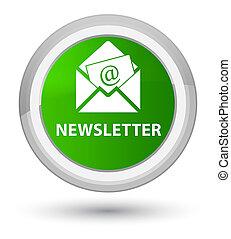 Newsletter prime green round button