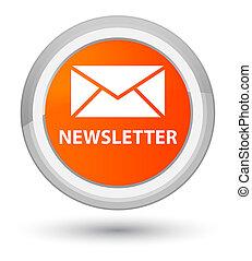 Newsletter prime orange round button