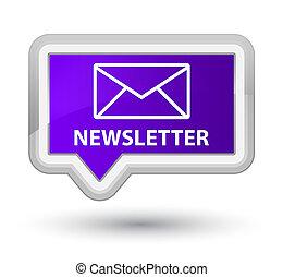 Newsletter prime purple banner button