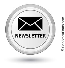 Newsletter prime white round button
