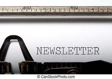 Newsletter printed on a typewriter