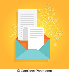 newsletter promotion envelope bill icon