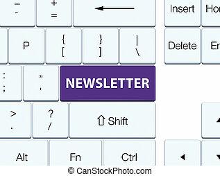 Newsletter purple keyboard button