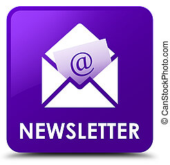 Newsletter purple square button