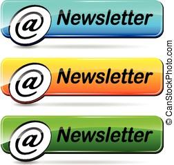 newsletter push buttons