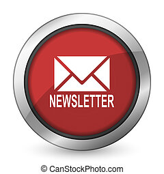 newsletter red icon