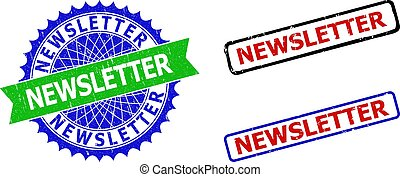 NEWSLETTER Rosette and Rectangle Bicolor Seals with Corroded Surfaces