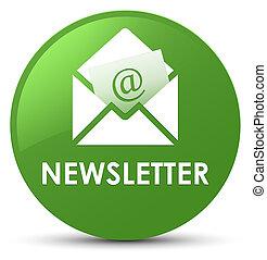 Newsletter soft green round button