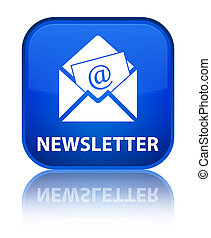 Newsletter special blue square button