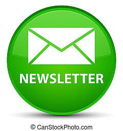 Newsletter special green round button