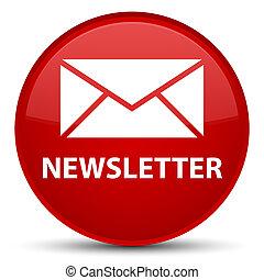 Newsletter special red round button