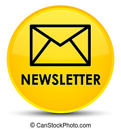 Newsletter special yellow round button