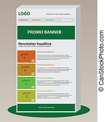 Newsletter template with business style
